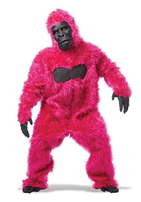 Costume de Gorille Rose vif pour Adulte