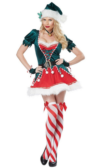 Costume d'Assistant du Pere Noel pour adulte