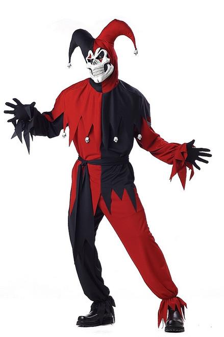 Bouffon Maléfique Rouge et Noir Taille Plus