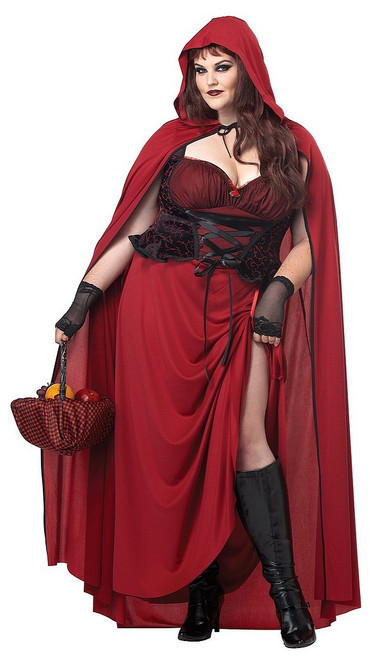 Chaperon Rouge Sombre Taille Plus