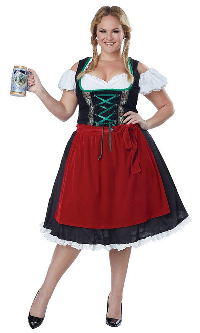 Costume Oktoberfest Fraulein en taille Plus