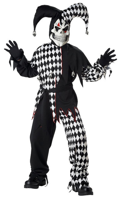 Costume Noir et Blanc du Méchant Bouffon