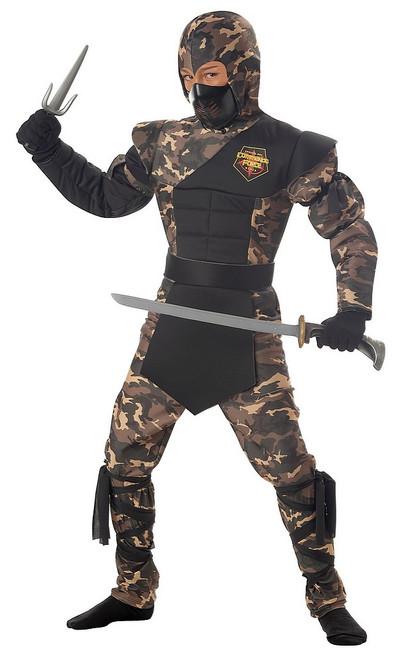 Costume Camouflage de Ninja des Forces Spéciales pour Enfant