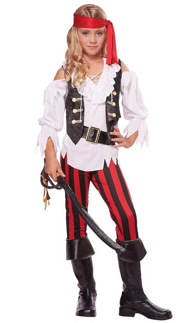 Costume distingué de pirate pour fille