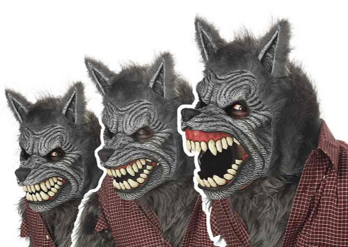 Loup-garou Masque Ani-Motion