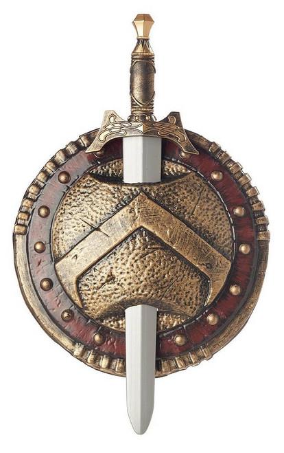 Bouclier et Épée du Combattant Sparte