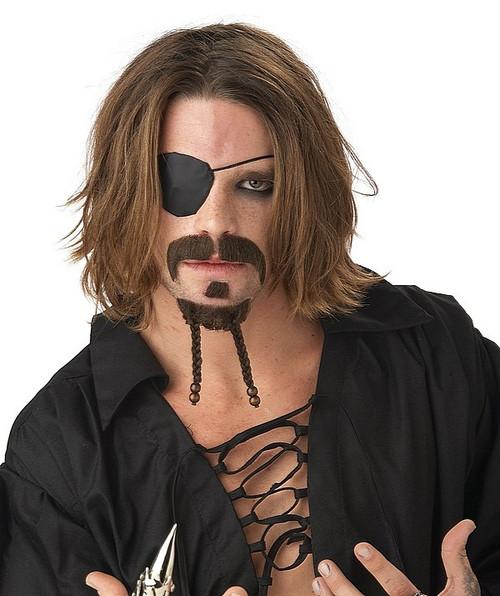 Pirate Mustache & Chin Patch