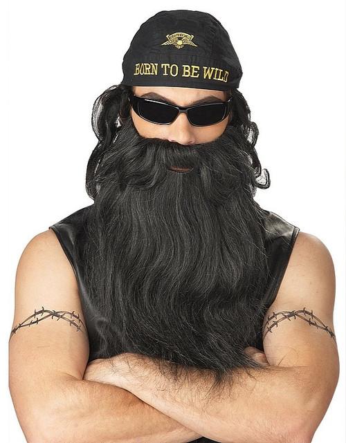 Biker barbe et moustache