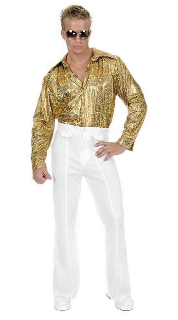 Chemise de disco Holographique Dorée Taille plus
