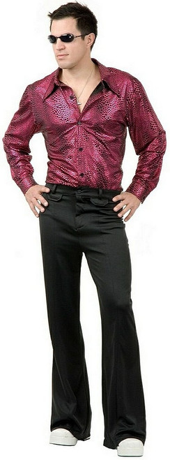 Chemise Disco Rouge Vin