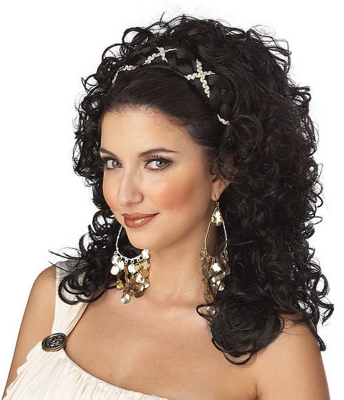 Déesse grecque perruque noire