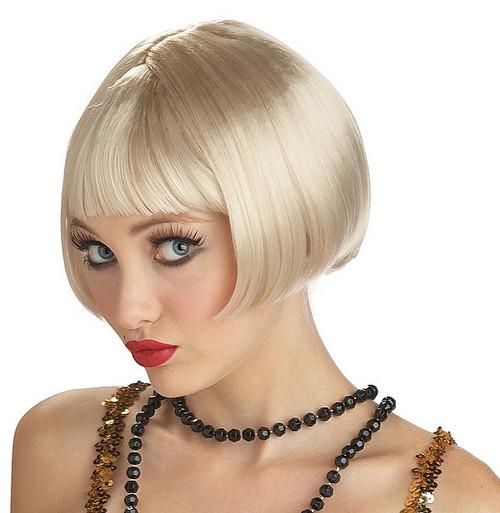 Perruque Blonde Garçonne des Années 20