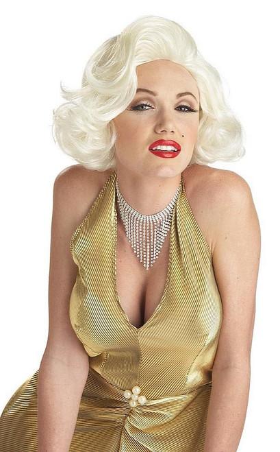 Perrruque Classique de Marilyn Monroe Blonde Platine