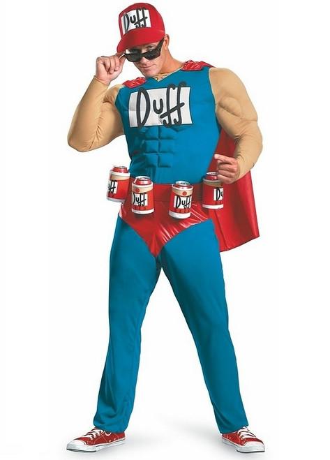 Costume Musclé Classique de Duffman