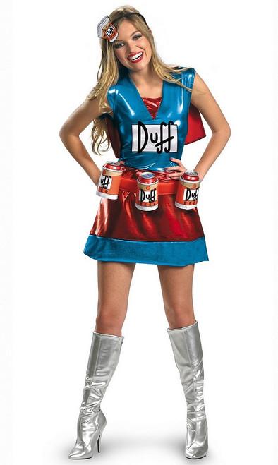 Costume Duffwoman De luxe pour adulte