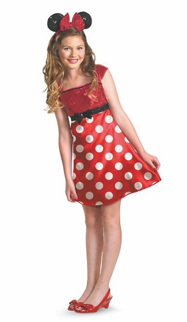 Costume rouge de Minnie pour Ados