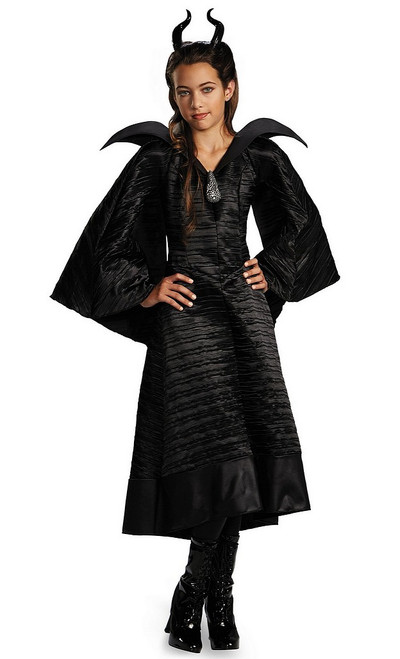 Costume de Baptême Noir de Maléfique Deluxe pour Enfant