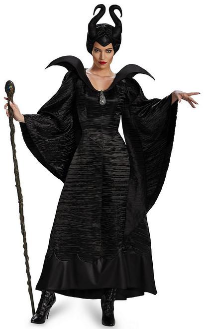 Costume Noir de Baptême de Maléfique pour Adulte