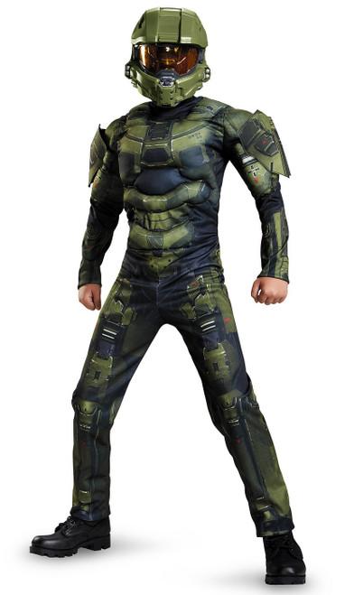Costume Classique Musclé de Master Chief Halo