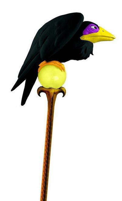 Bâton de Malefique avec Corbeau