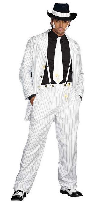 Costume de Gangster Élégant Zoot Suit Blanc