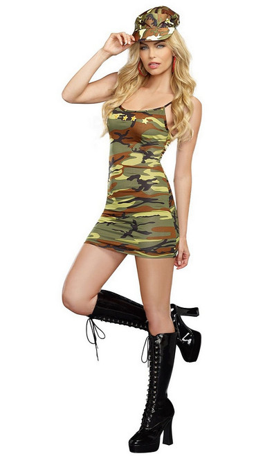 Costume de la Militaire Camouflée