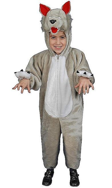 Costume de loup en peluche pour enfant