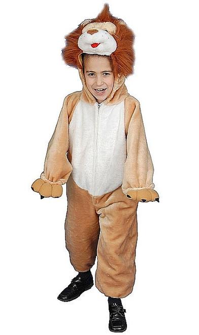 Costume de lion en peluche pour enfant