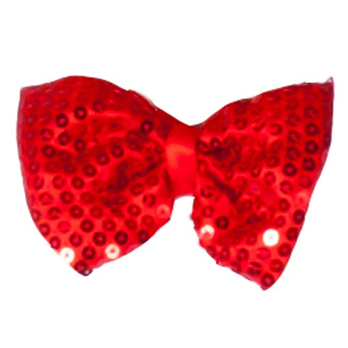 Rouge pailletée Bow Tie