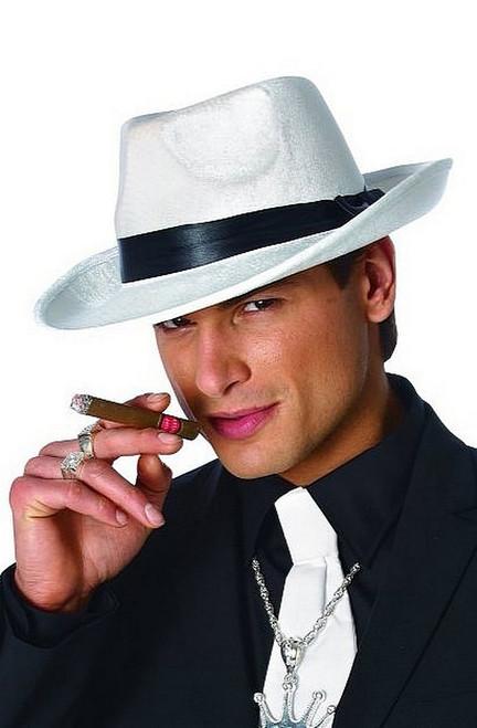 Chapeau Blanc de Gangster des Années 20