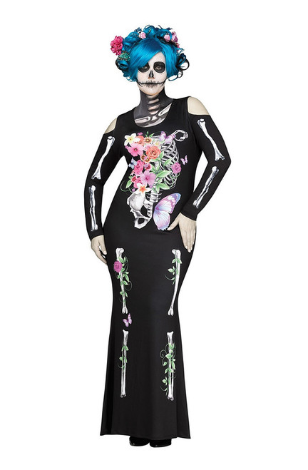 Costume de Sublime Squelette pour Adulte Taille Plus