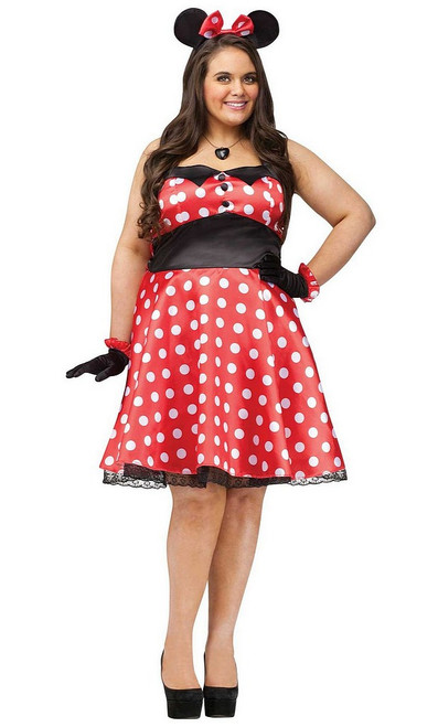 Costume de Mme Minnie Retro Taille Plus