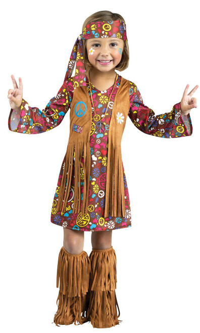 Costume du Bambin Hippie Peace and Love