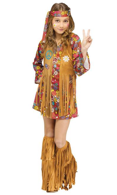 Costume peace&love  des années 60 pour fille