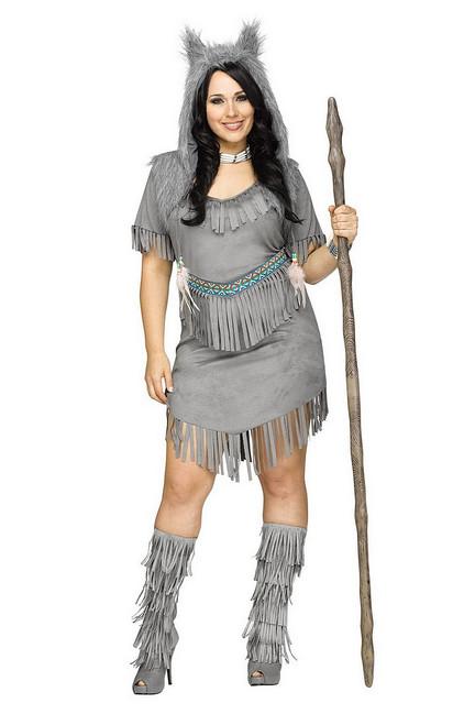 Costume de la Danse des Loups pour Adulte Taille Plus