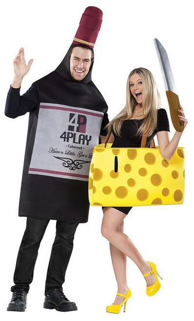 Costume de Couple Vin et du Fromage
