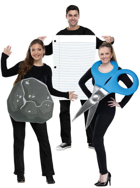 Costume de Roche, Feuille, Ciseau pour Adulte