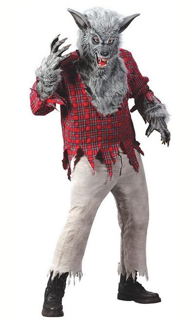 Costume du  Loup-garou Argenté pour Adulte