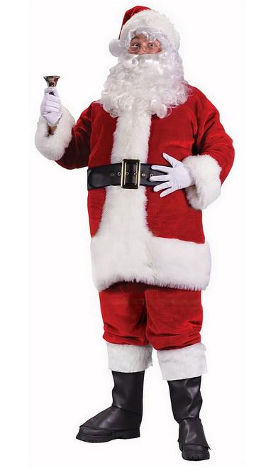 Costume de Père Noël Rouge en Peluche Royal
