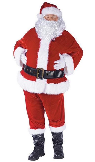 Costume Complet en Velours du Père Noël