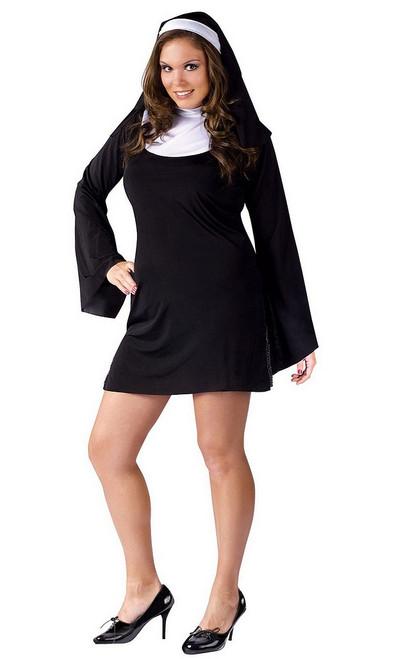 Costume Nonne Coquine Taille plus pour Adulte