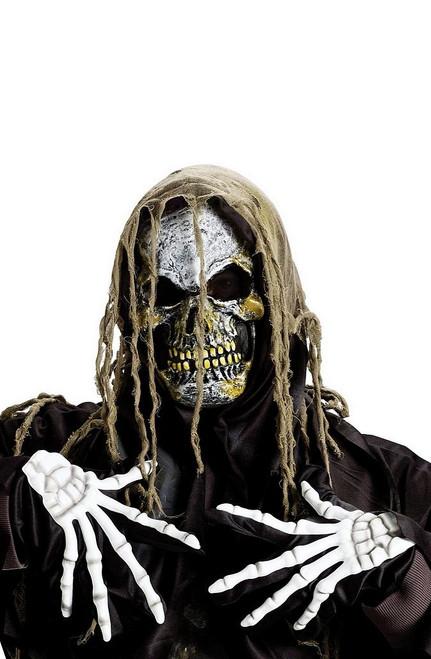 Zombie Suaire crâne Masque avec des gants