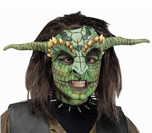 Fantasy Head Reptoid demi-masque