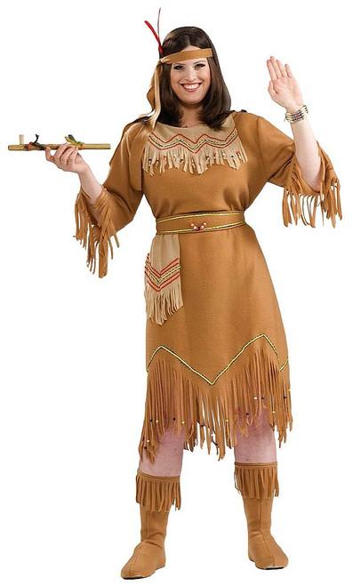 Costume Taille Plus de la Jeune Fille Native Américaine