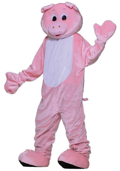 Costume de Luxe en Peluche de Mascotte de Porc