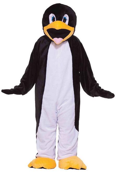 Mascotte de pingouin en peluche