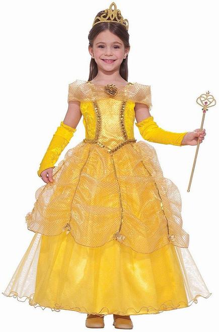 Déguisement de la Princesse Belle doré