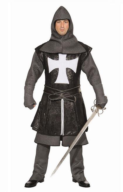 Costume du chevalier Croisé noir