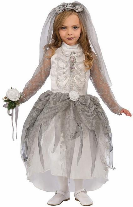 Costume de la Mariée Squelette pour Fille