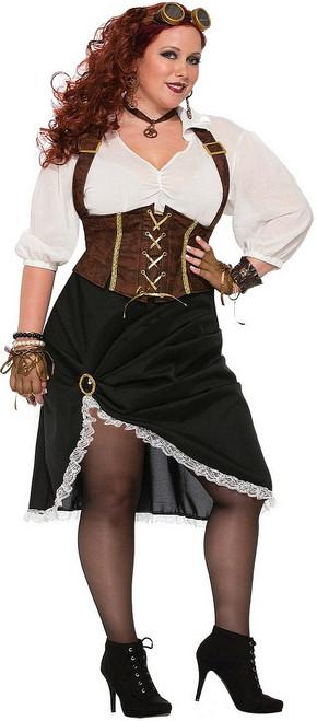 Costume de Dame Steampunk Taille Plus